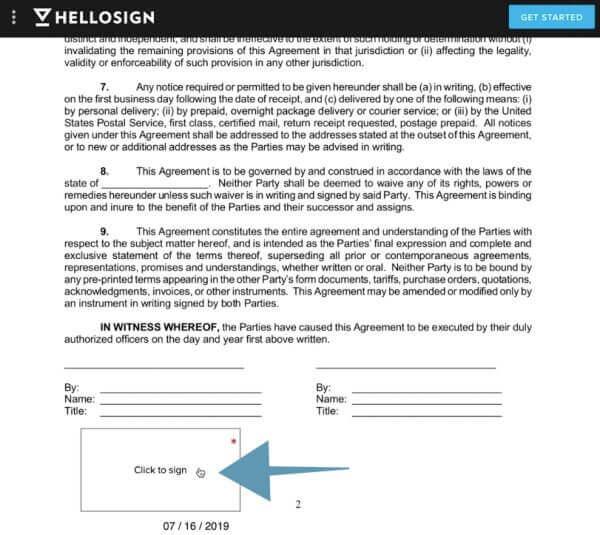 Como firmar contratos con hellosign