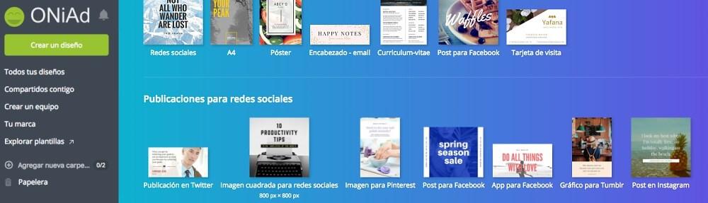 diseñar imágenes para redes sociales con Canva