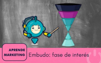 La fase de interés del embudo de marketing