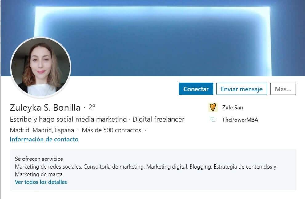 Zuleyka LinkedIn