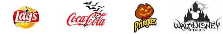 logos de marcas en halloween