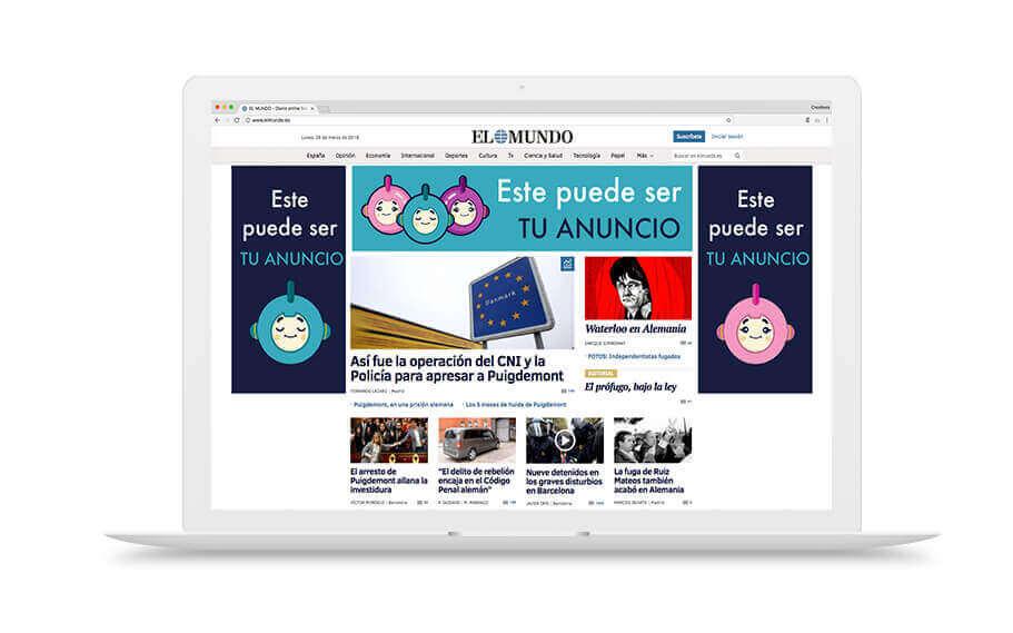 Medios premium display