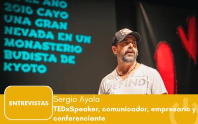 """Sergio Ayala: """"o eres feliz en el trabajo o estás perdido"""""""