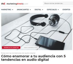 Tendencias audio digital Marketing Directo