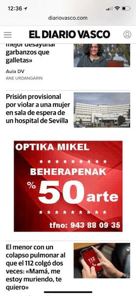 Banner2 Optika Mikel campaña publicidad digital